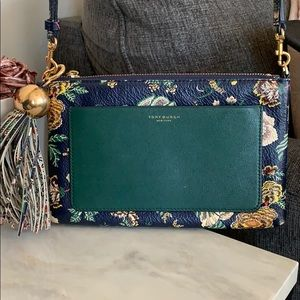Blue floral Tory Burch Purse